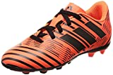 adidas Nemeziz 17.4 Fxg J, Chaussures de Football Garçon, Multicolore (Solar Orange/core Black), 38 2/3 EU