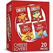 Cheez-It Cheese Lovers, Snacks, Variety Pack, 17.6oz Box (20 Count)