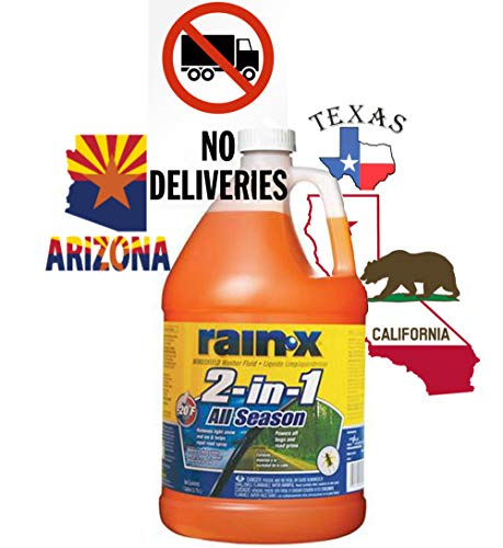 Rain-X Original 2-in-1 Windshield Washer Fluid, Removes Grime, Improves Driving Visibility - 20° F