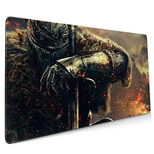Dark Souls Mouse Pad Rectangle Non-Slip Rubber Electronic Sports Oversized Large Mousepad Gaming Dedicated,for Laptop Computer & PC 15.8X35.4 Inch