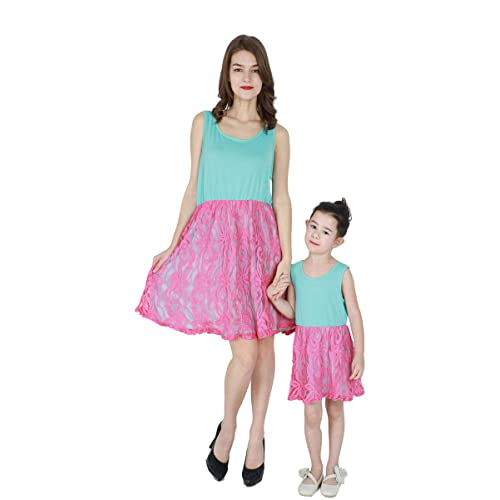 adb378fa8d5 YMING Parent-Child Shirt Dress Family Clothes Outfits Mommy and Me Matching  Dress