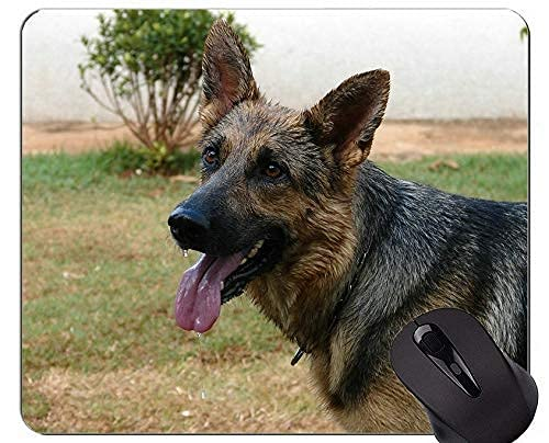 Mauspads - Deutscher Schäferhund Schutzbrille Military Working,Hunde Rutschfeste Gummiunterseite Mousepad
