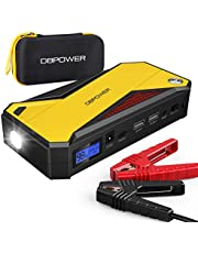 DBPOWER 800A 18000mAh Portable Car Jump Starter (up to 7.2L Gas, 5.5L Diesel Engine) Battery Booster with Smart Charging Port (Black Yellow)