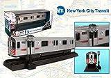 Daron/Realtoy MTA 2011 New York City 6 Train Bronx to Lexington Ave NY 7.5' NYC Clock/Light Post & Diecast Subway Car