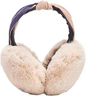Bicycle Car Red Heart Pattern Winter Earmuffs Ear Warmers Faux Fur Foldable Plush Outdoor Gift