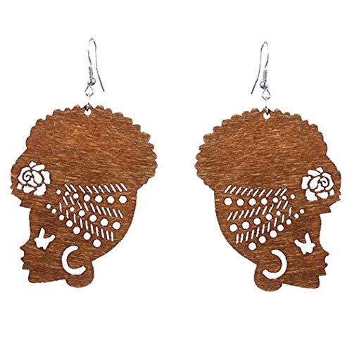 Pendientes 1 Par Magia Turbante Africanos De La Cabeza Cuelgan Gota Para Oído Pendiente Del Gancho De Regalos De Joyería Para Mujeres