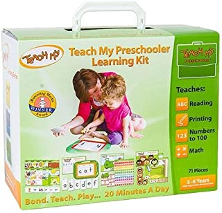 71-Pieces Teach My Preschooler Learning Kit Including a Step-by-step Teaching Guide