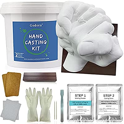 Hand Casting Kit Couples   Keepsake Hand Mold kit Couples for Anniversary Gift and Holiday Activities, with Base & Card Stand Molding Kits for Adults, Wedding, Friends, Plaster Hand Mold Casting Kit