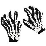 HENTEK Fiesta de Halloween Shock Scream Series Bones Skeleton Skeleton Decoración Guantes Horror Scary Skeleton Gloves
