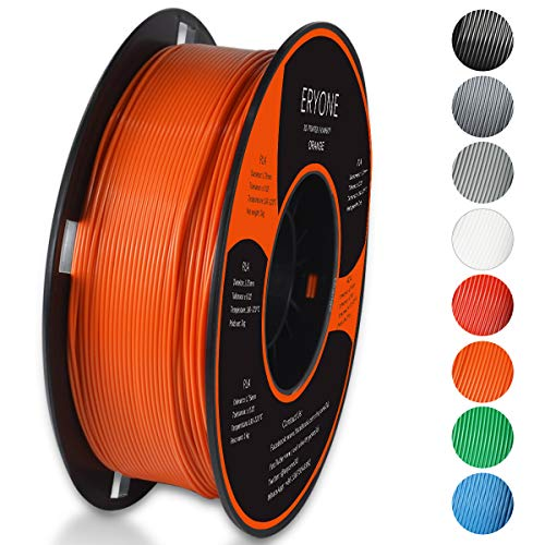 PLA Filament 1.75mm, ERYONE Filament PLA 1.75mm, 3D Printing Filament PLA for 3D printer, 1kg 1 Spool, Orange