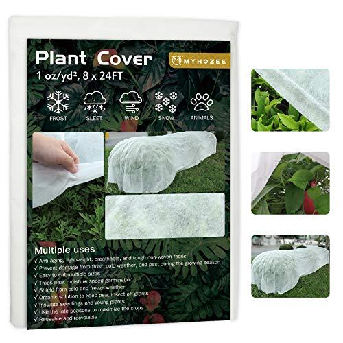 cotwoco - Protector de invierno para plantas (2,5 x 7,5 m, transpirable, resistente a desgarros, lavables)