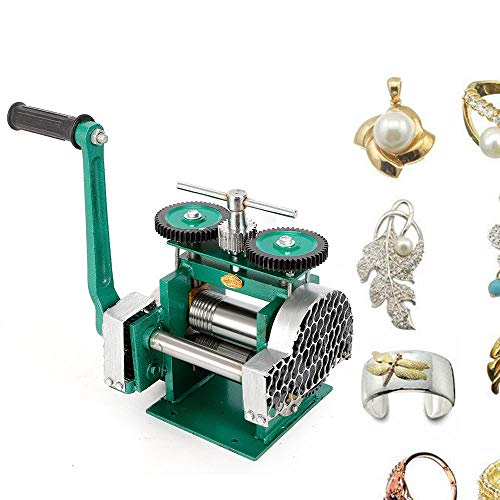 Manual Rolling Mill Machine  3quot Roller Manual Combination Rolling Mill Flatten Machine  Jewelry DIY Tool amp Equipments Gear Ratio 1:6 for DIY Jewelers Craft professional Roll presser: 85mm