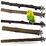 Descena 5 Vogel-Natur-Sitzstangen (18-26 cm):...