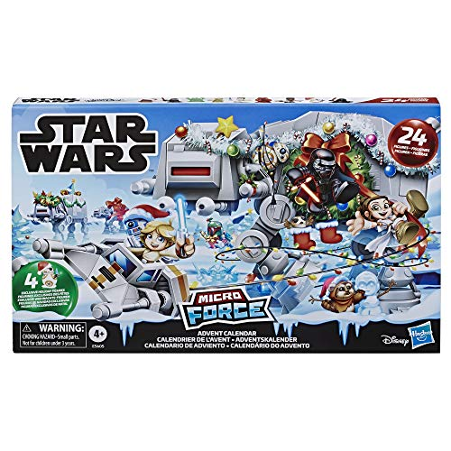 Star Wars Micro Force Advent Calendar Holiday Display with 24 Collectible Surprise Mini Figures and 7, Kids Ages 4 and Up