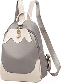 SSDD حقائب يومية كاجوال بسيطة نمط حقائب الظهر للمرأة الطلاب العامل مكتب التجوال حقيبة 24 * 31 * 9 سم رمادي