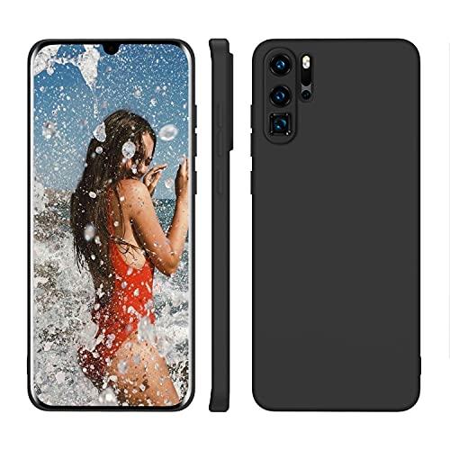 ORDA Huawei P30 Pro New Edition Hülle Silikon Hülle, Hanyhülle Huawei P30 Pro Hülle Ultra Dünn mit Microfiber, Kameraschutz & Displayschutz, Kratzfeste Hülle für Huawei P30 Pro Matt Schwarz