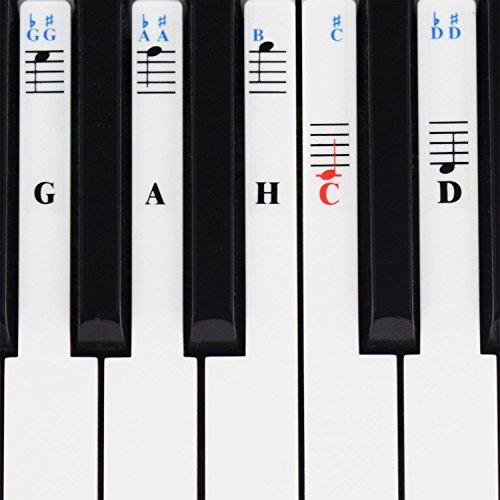 Klavier Aufkleber für 49/61 / 76/88 Key Keyboards – Transparent und abnehmbar