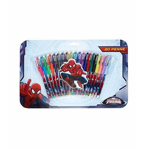 Marvel Ultimate Spiderman - Penne Gel, Set 20 Pezzi