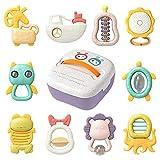 Sonajeros para bebés recién nacidos, batido sensorial para la dentición y...