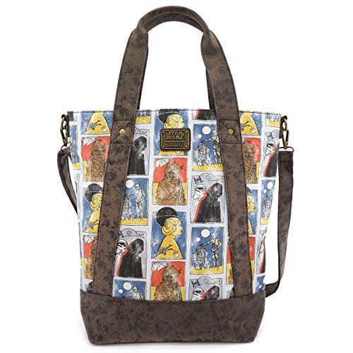 Loungefly x Star Wars Cards Crossbody Tote Bag (Multicolored, One Size)