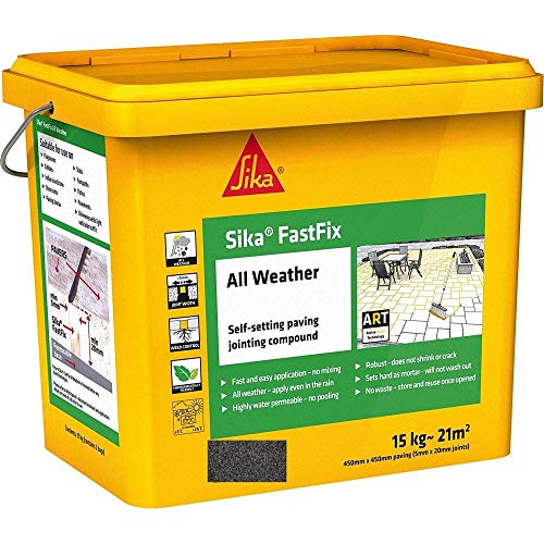 Sika FastFix All Weather Self Setting Paving Jointing Compound, Flint