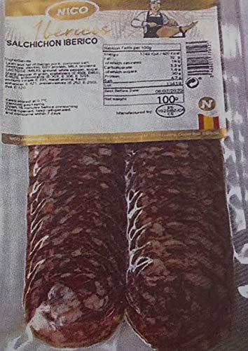イベリコ豚 イベリコ ・ サルシッチョン ( スライス ) 100g×40P( P35-38枚 ) 冷蔵 業務用 サラミ