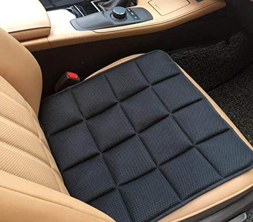 XLHZKAL Chair cushion,Office Chair Car Seat Cushion Solid Color Square Breathable Mesh Fabric Comfortable Seat Sofa Cushion,Black,45x45cm