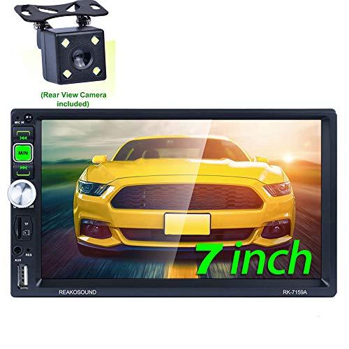 Honboom Autoradio Bluetooth 2 DIN Car Stereo con 7 Pollici HD Touchscreen Supporto Chiamata Vivavoce Bluetooth FM USB TF Card AUX (Telecamera Posteriore Inclusa)