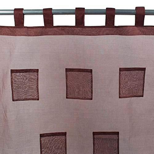 Thedecofactory 110353 Voilage Coton Pocket, Chocolat, 110 x 250 x 3 cm
