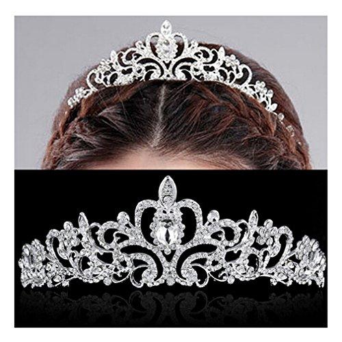 LALANG Bridal Crown Tiara Princess Crown Wedding Tiara Bride Prom