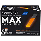 MAX by Maxwell House Boost Max 1.5x Caffeine Keurig K Cup Coffee Pods (72 Count, 6 Boxes of 12)