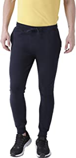 YOUNG TRENDZ Solid Men Track Pants (Navy, Small)
