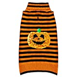 kyeese Halloween Dog Sweaters for Large Dogs Pumpkin Dogs Sweaters Holiday Turtleneck Dog Knitwear with Leash Hole