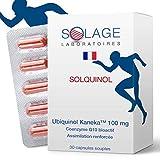 COENZYME Q10 UBIQUINOL Stable - La seule forme étudiée et démontrée - Antioxydant, Anti âge, Anti fatigue - 30 capsules de 100 mg ubiquinol - Laboratoire Français SOLAGE