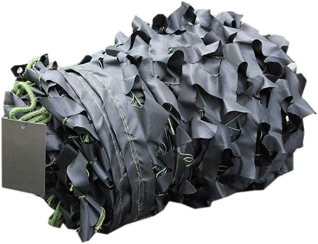 CHAOXIANG Filet De Camouflage Camping Tente Filet D'ombrage Crème Solaire Pratique Poids Léger Noir, Multi-Taille, Personnalisable (Couleur   A, Taille   5x8m)