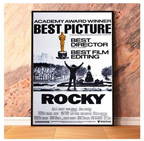 Rompecabezas 1000 Piezas Rocky Vintage Movie Poster Madera Vintage Juguetes para Adultos Juego De Descompresión Tw104Zk
