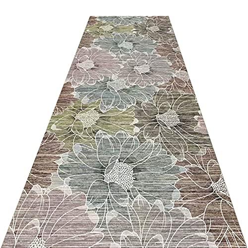 YYQIANG Traditionneur Vintage Tapis, Tapis de moquette lavable sans glissière sans glissement avec motif imprimé floral, idéal for l'entrée de l'entrée de la cuisine de couloir, peut couper gratuiteme