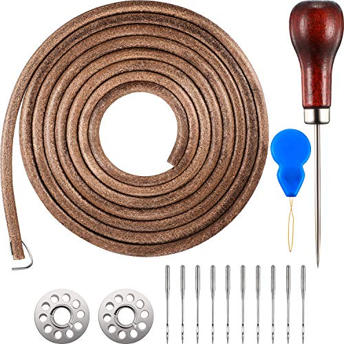 Norme 1 Pack 183 cm 3/16 Inch Leather Belt Treadle Parts with Hook Compatible with Singer/Jones Sewing Machine