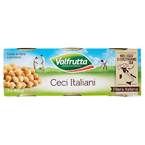Valfrutta - Ceci, Senza Glutine - 2 confezioni da 3 pezzi da 400 g [6 pezzi, 2400 g]