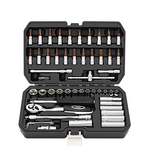 Kit de herramientas de reparación de automóviles, 46/53 piezas, juego de herramientas profesionales de reparación de automóviles, herramienta de mano multifuncional de acero cromo vanadio herramienta