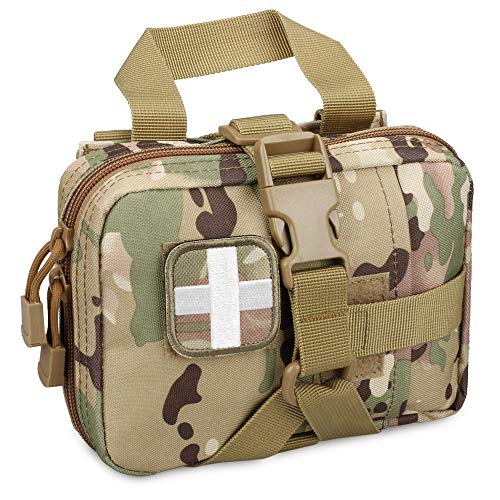 LIVANS Tactical EMT Pouch, Rip Away Molle Medical Pouches IFAK Tear-Away First Aid Kit Emergency Survival Bag for Travel Outdoor Hiking