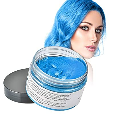 Temporary Hair Color Wax,Washable Hair Color Instant Wax 4.23 oz,Temporary Hairstyle Cream,Natural Hair Wax Color Styling Cream Mud,for Men and Women Party,Cosplay,Daily use
