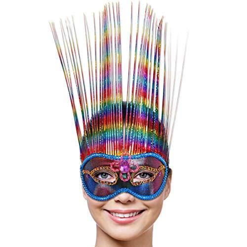 Folat Parti Arc-en-Ciel Deluxe Masque vénitien (Taille Unique)