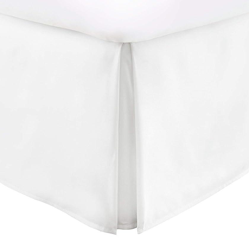 プロペラ感性存在するaayukitベッドスカートクイーンサイズ16インチ分割コーナーホワイトソリッドwith 100?%エジプト綿( 1?pcベッドスカートQueen 60?x 80ホワイトソリッド) 500?Thread Count品質