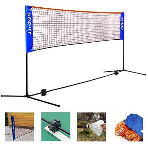 ZXLLAFT Juego de Red de Bádminton para Exteriores, Portátil Ajustable en Altura con Soporte y Bolsa de Transporte para Voleibol, Fútbol, Tenis,C