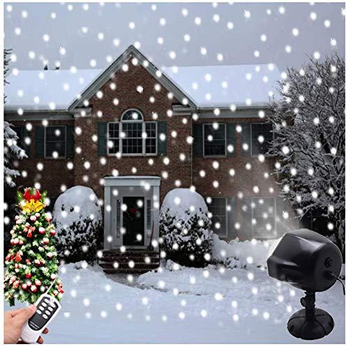 Proyector de Luces Navidad, LSNDEE Luce LED Para Copos de Nieve , Decoración Navideña Para Interiores Iluminación Exterior a Prueba de Agua Giratoria Para Copos de Nieve Luz de Jardín