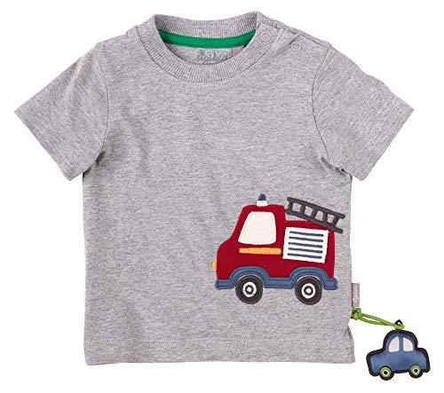 Sigikid Baby-Jungen T-Shirt, Feuerwehr/Grau, 62