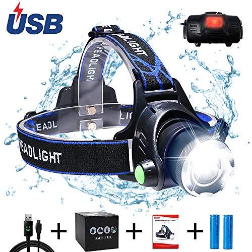 AUKELLY Linternas Frontales USB Recargable Alta Potencia