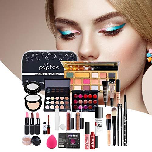 Make-up-Set für Frauen Komplettes Kit, wasserdichtes Make-up-Werkzeug für das ganze Gesicht, 26-teiliges Eye-Catcher-Make-up-Etui mit Lidschatten-Lippenstift-Concealer-Kosmetik-Set