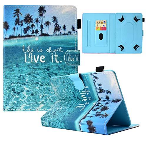 Dteck Schutzhülle für Samsung Galaxy Tab 4 / Tab E Lite / Fire 7 / HD 7 / HDX 7 / MatrixPad Z1 S7 / RCA Voyager / Dragon Touch M7 / Android Tablet 7 7 Zoll (17,8 cm)